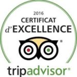 la Maison d'hôtes Altamica est certifiée d'excellence Tripadvisor