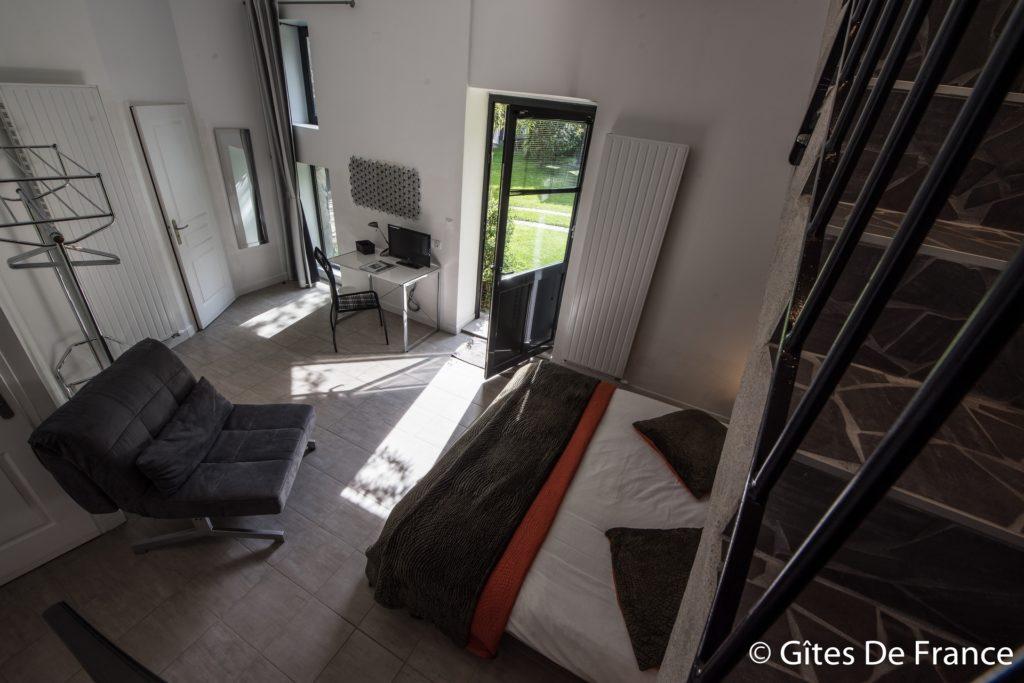 La chambre Epona de la Maison d'hôtes Altamica vue d'en haut