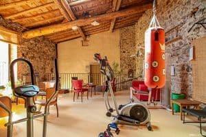 salle de détente et de bien-être des chambres d'hôtes Altamica